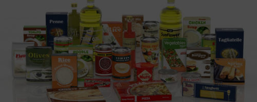 34655511 - 3d collection of packaged food isolated on white background