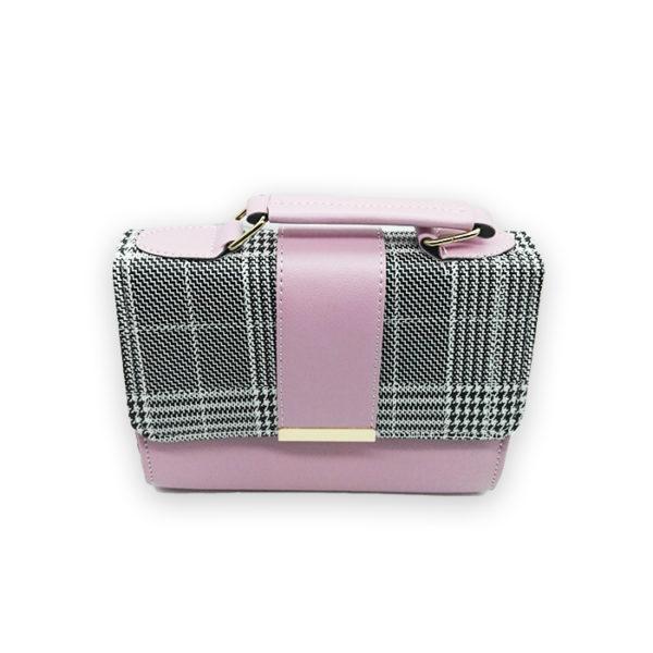 sac à main rose gris