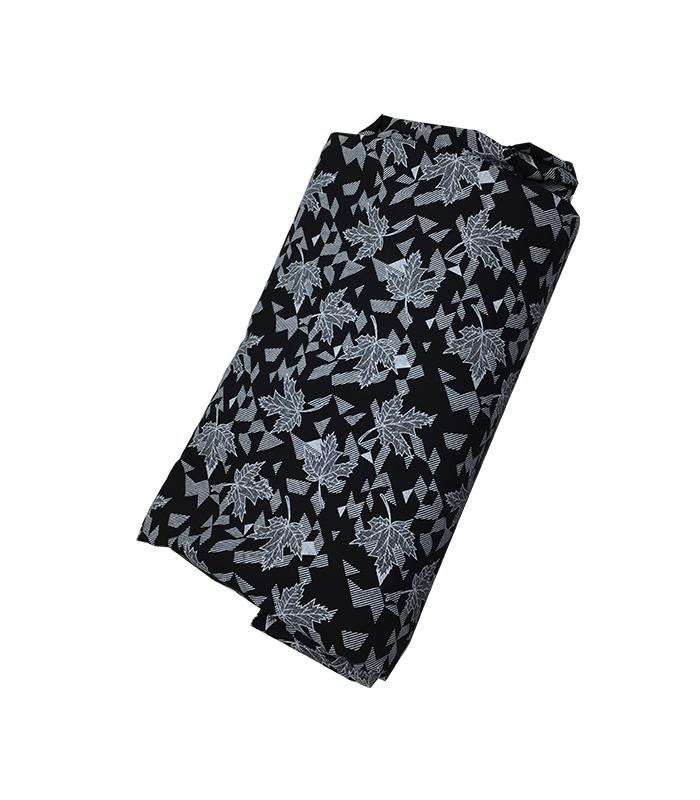 tissu coton chemise noir