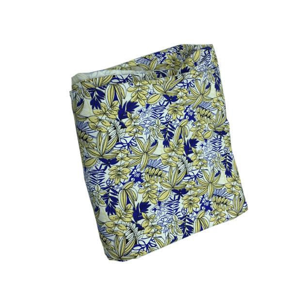 Tissu coton bleu jaune pour chemise