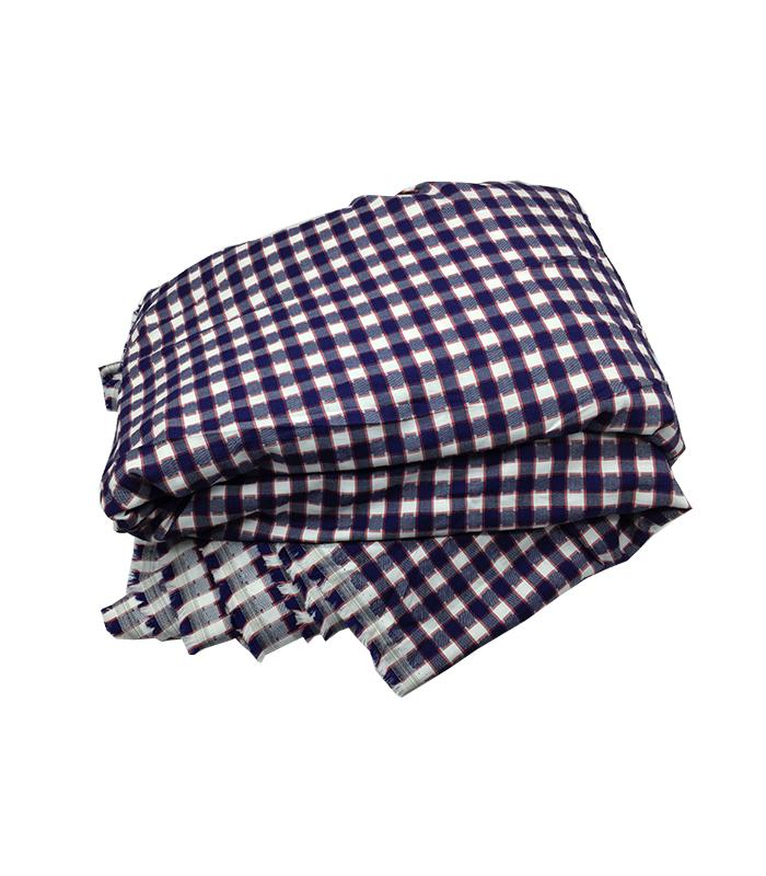 Tissu coton carrelé violet pour chemise