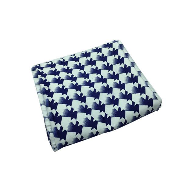 Tissu coton blanc bleu chemise