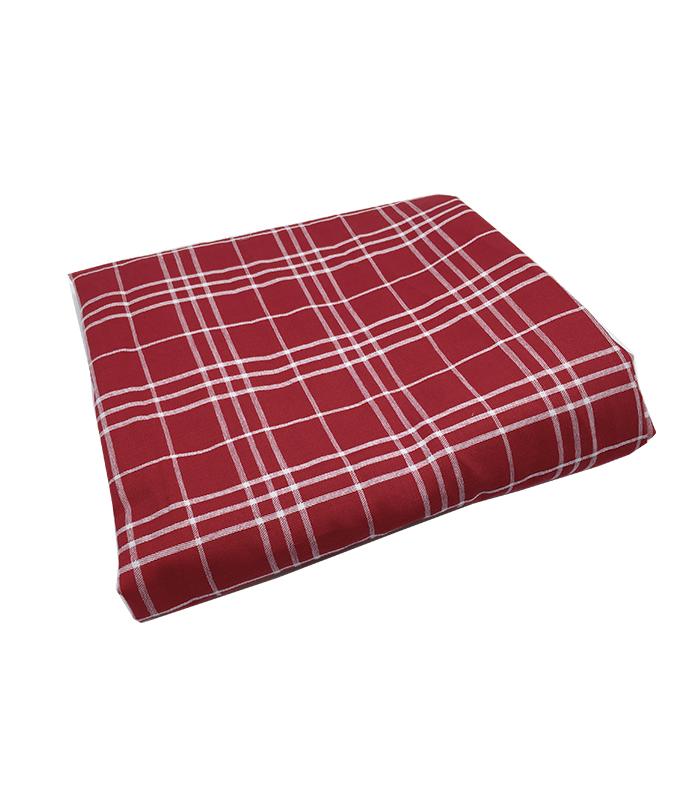 Tissu coton rouge carrelé pour chemise