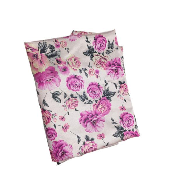 Tissu en soie 2 m blanc violet