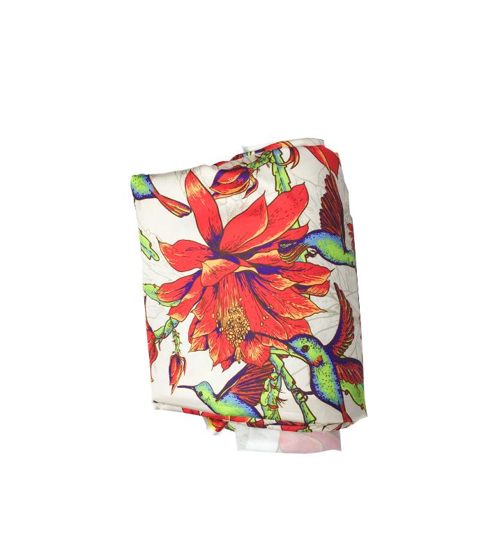 Tissu en soie 2 m blanc rouge