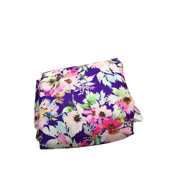 Tissu en soie 2m violet