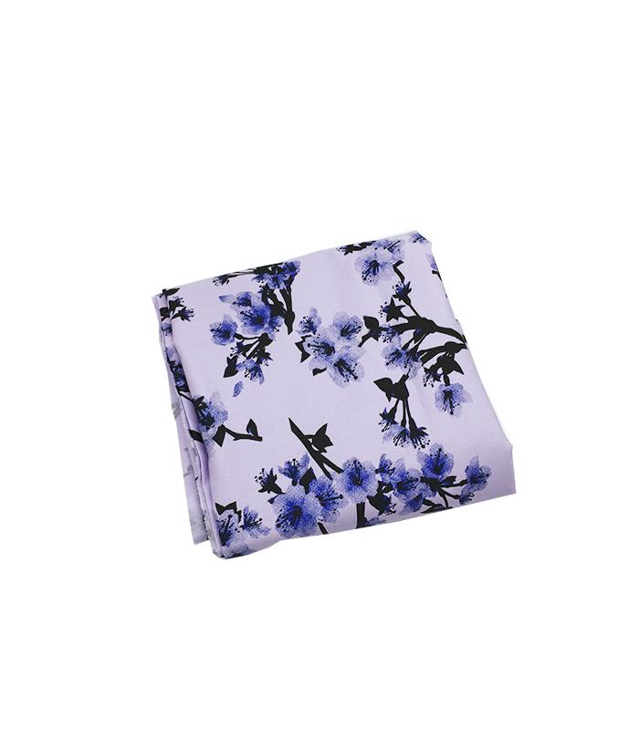 Tissu en soie 2 m violet 2